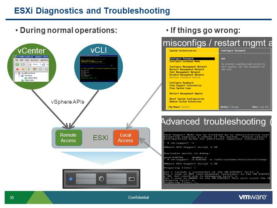 ESXi Diagnostics and Troubleshooting