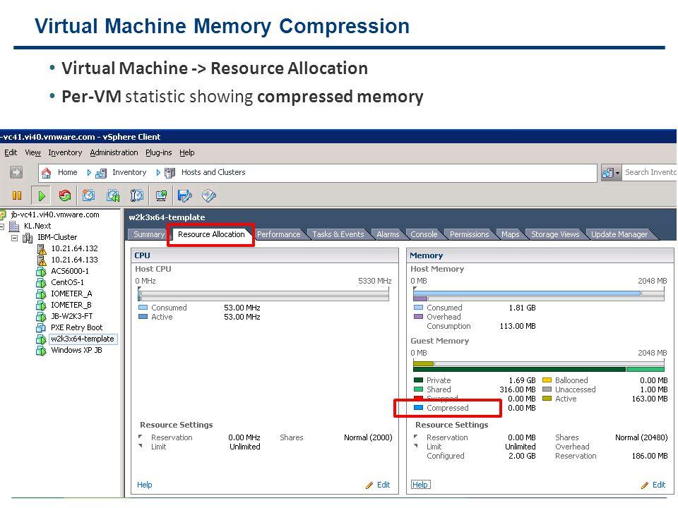 Virtual Machine Memory Compression
