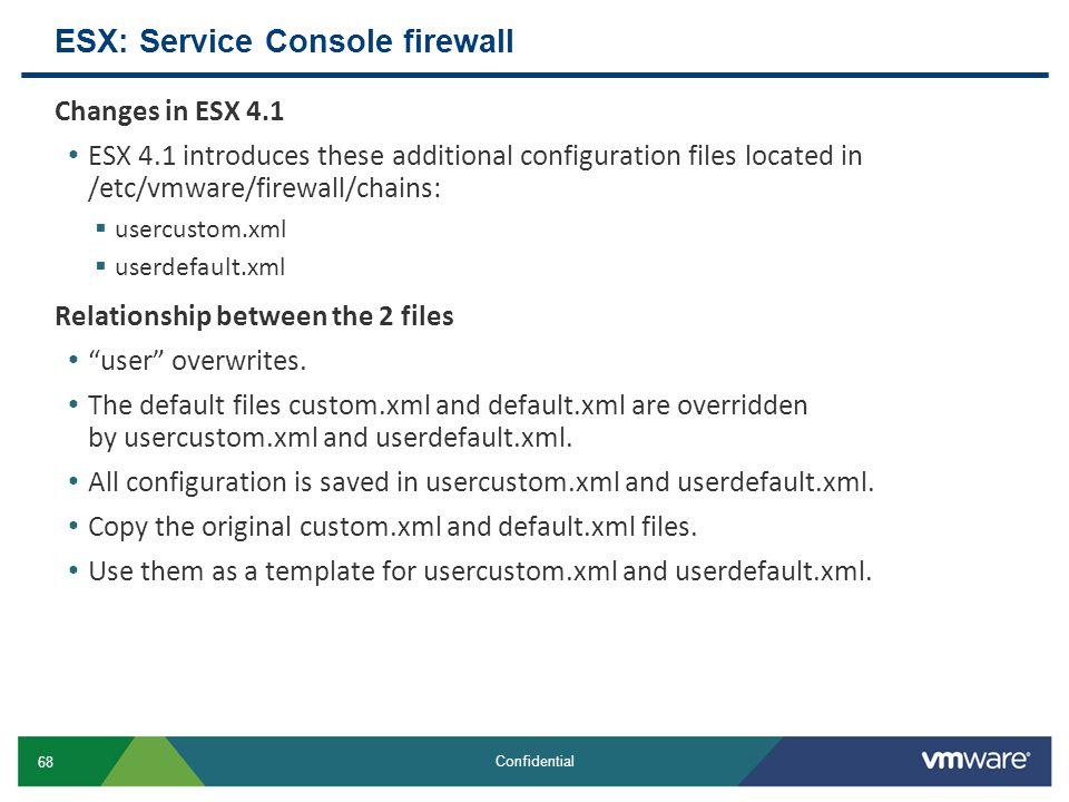 ESX: Service Console firewall