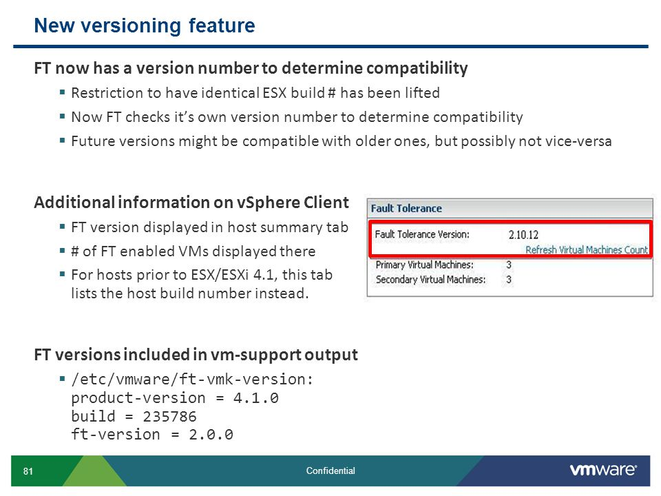 New versioning feature