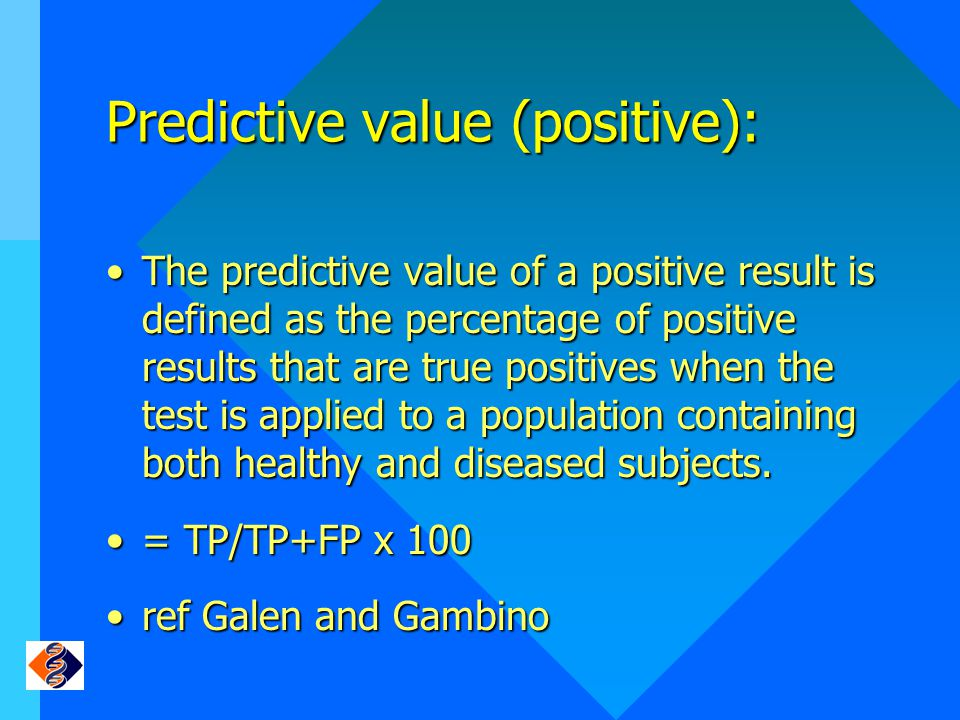 Predictive value (positive):