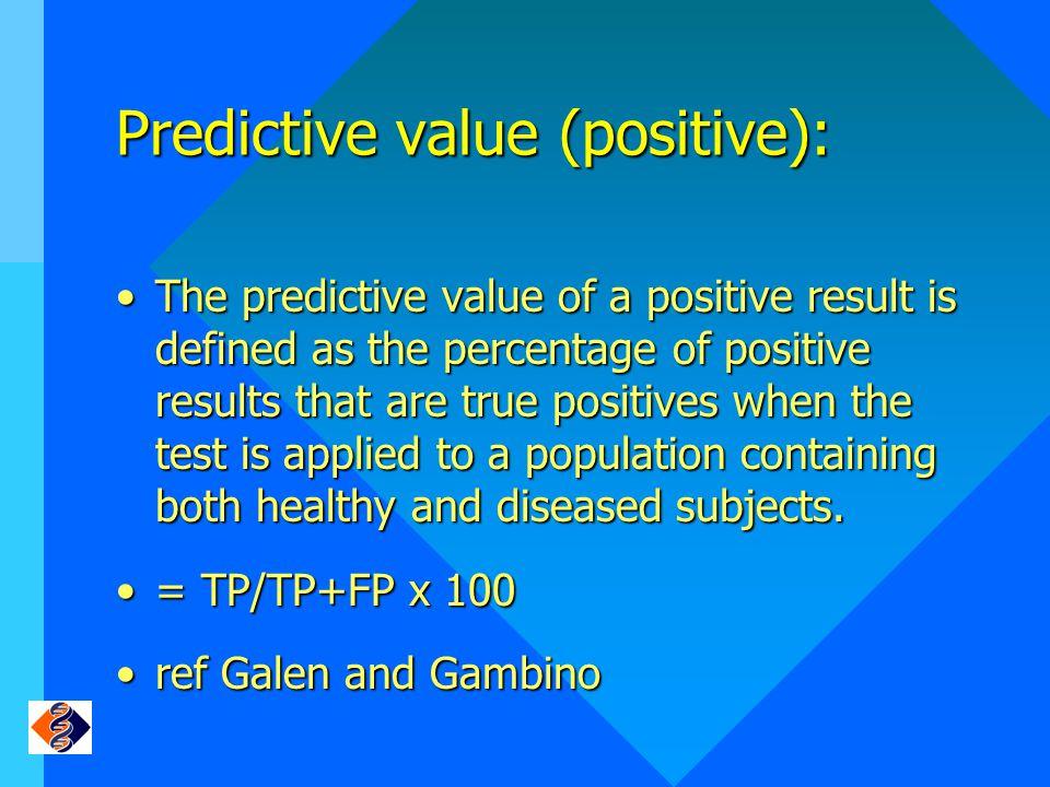 Predictive value (positive):