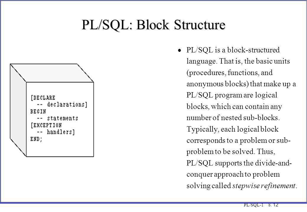 PL/SQL: Block Structure