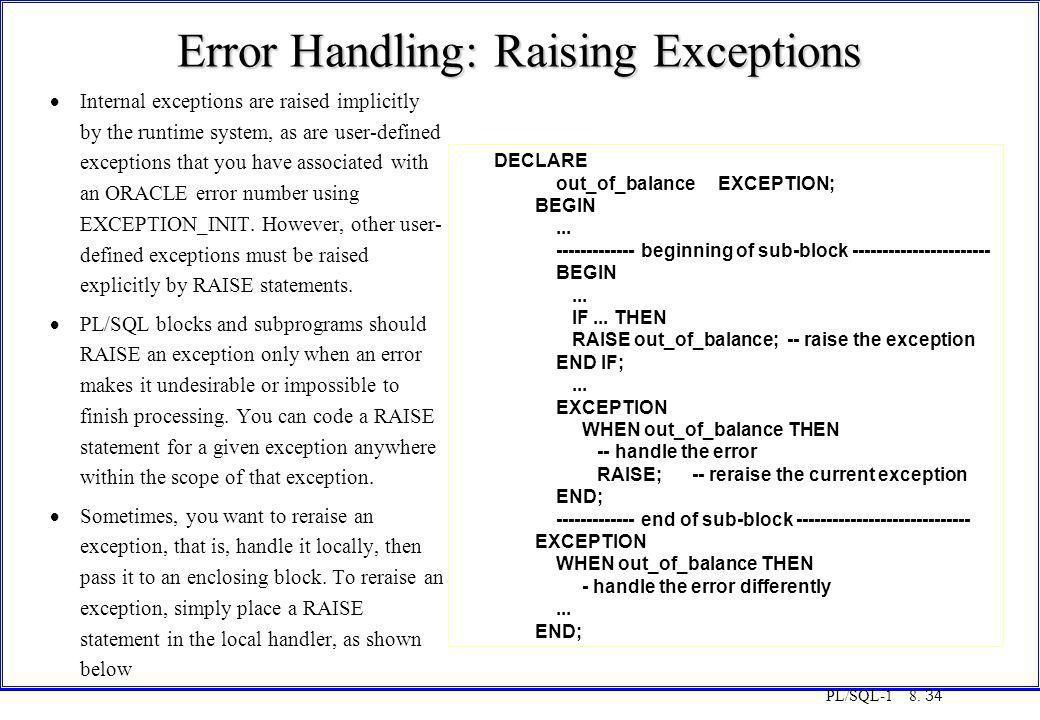 Error Handling: Raising Exceptions