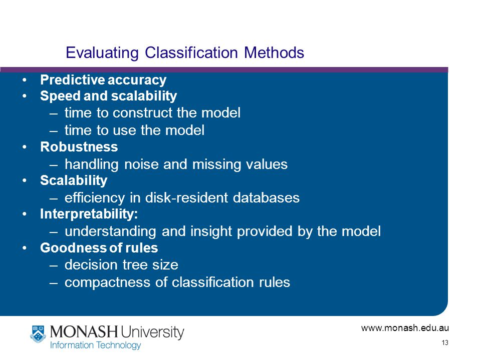 Evaluating Classification Methods