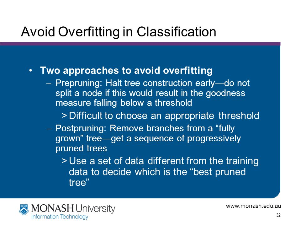 Avoid Overfitting in Classification