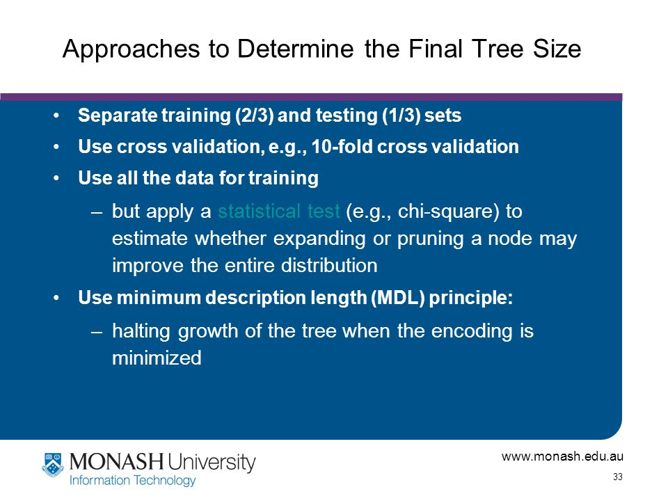 Approaches to Determine the Final Tree Size