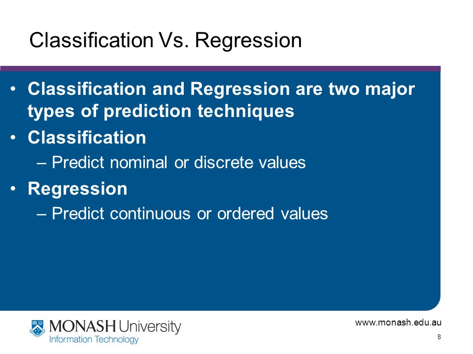 Classification Vs. Regression