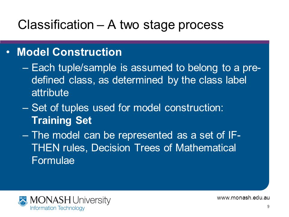 Classification – A two stage process