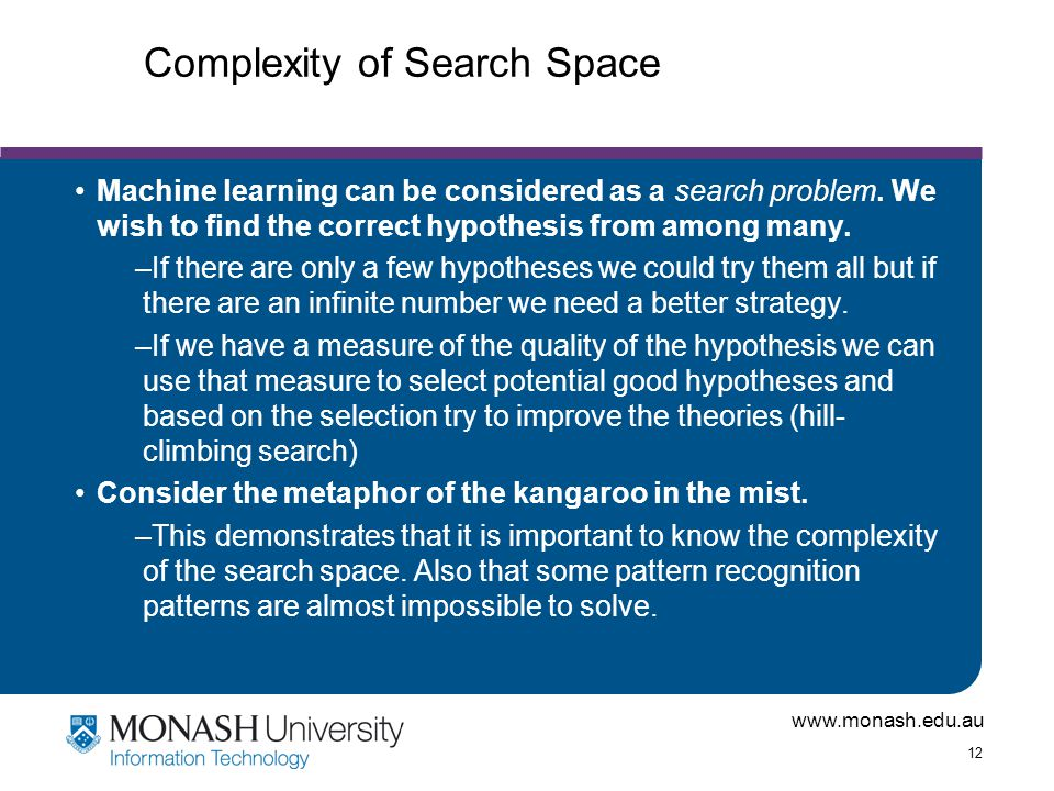 Complexity of Search Space