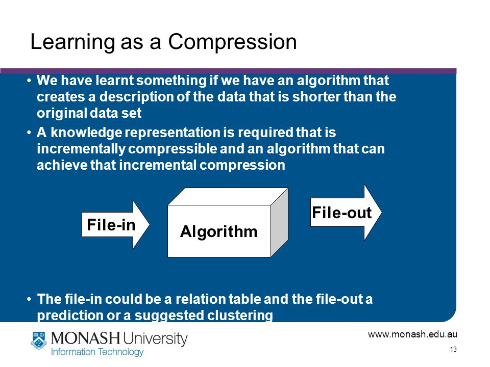 Learning as a Compression