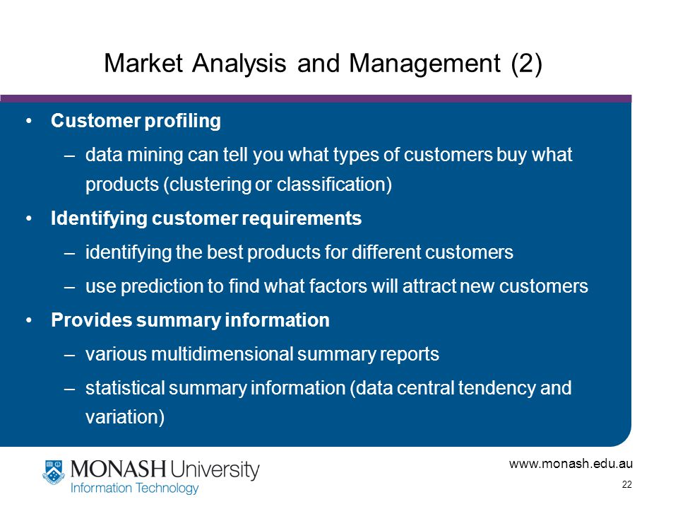 Market Analysis and Management (2)