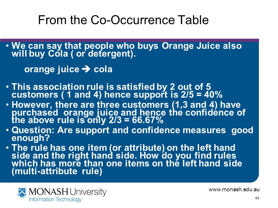 From the Co-Occurrence Table
