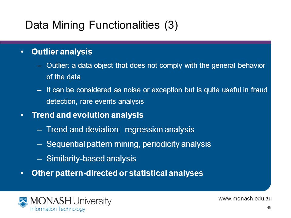 Data Mining Functionalities (3)