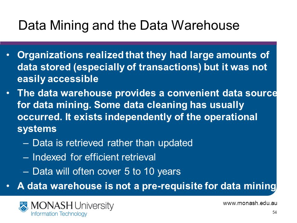 Data Mining and the Data Warehouse