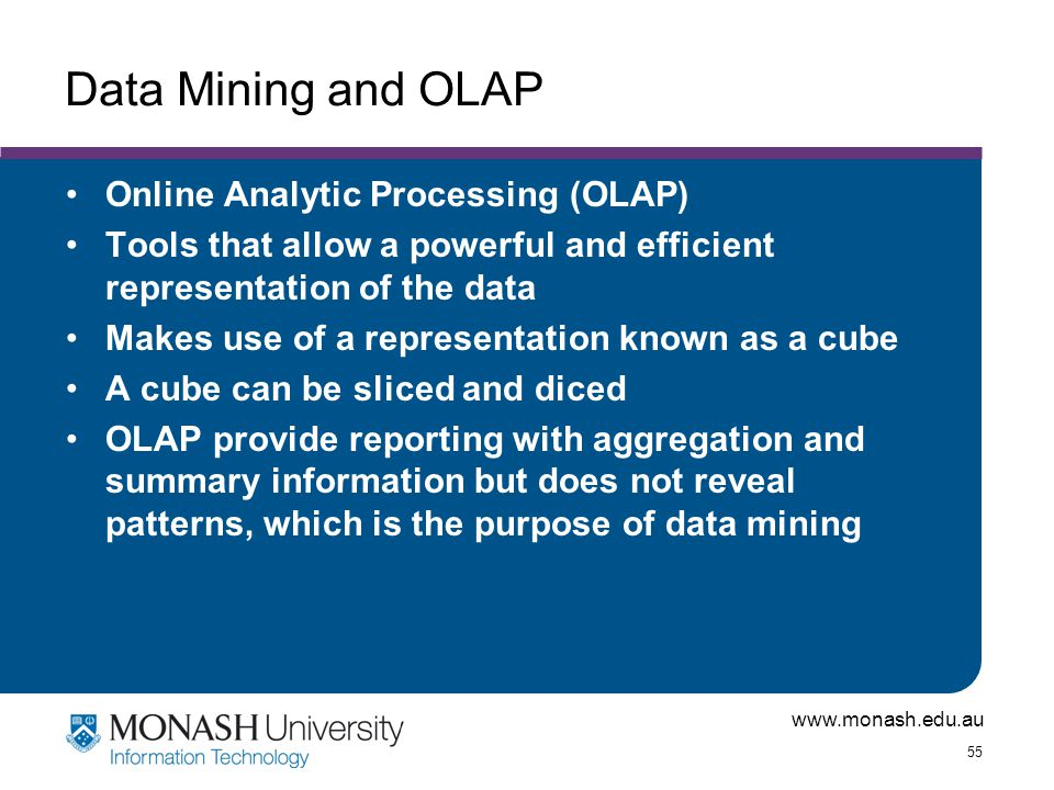 Data Mining and OLAP Online Analytic Processing (OLAP)