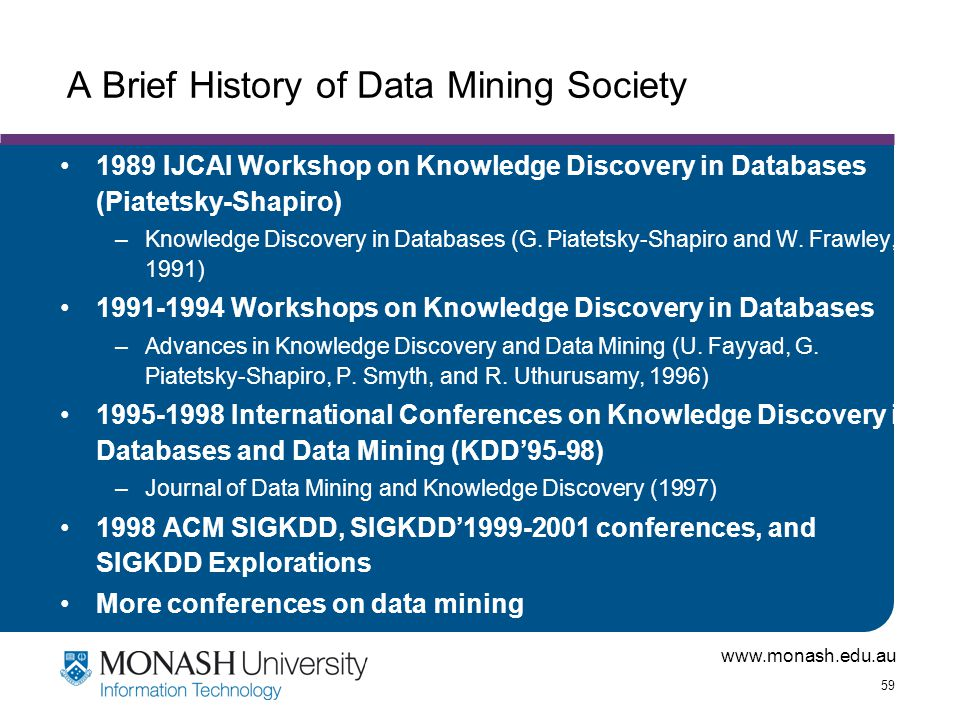 A Brief History of Data Mining Society