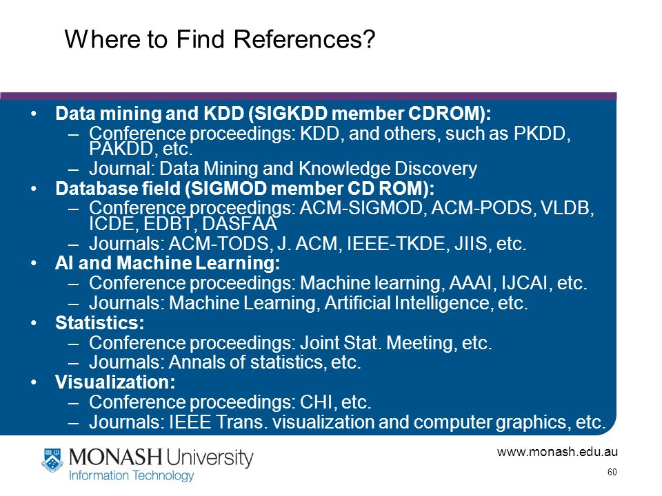 Where to Find References