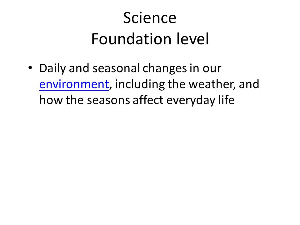 Science Foundation level