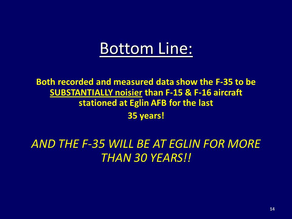 AND THE F-35 WILL BE AT EGLIN FOR MORE THAN 30 YEARS!!