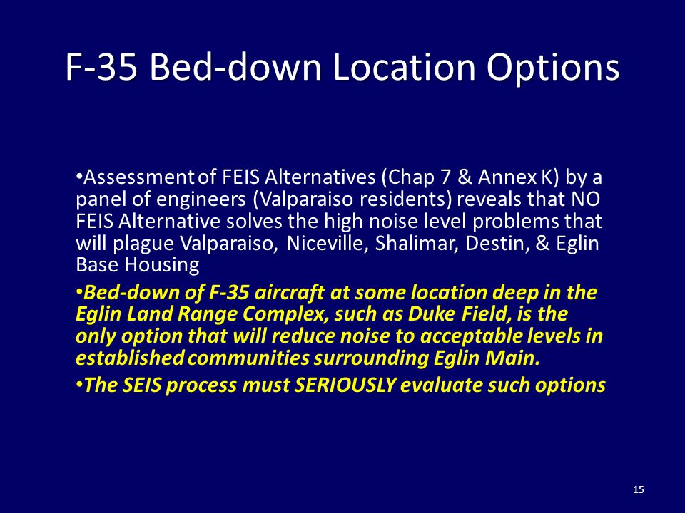 F-35 Bed-down Location Options