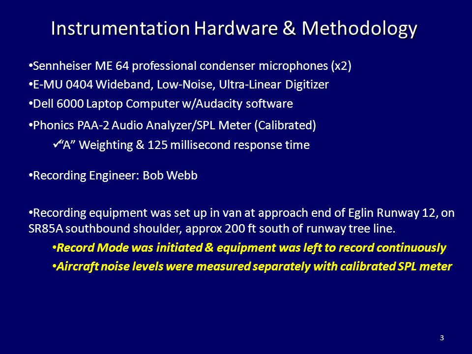 Instrumentation Hardware & Methodology