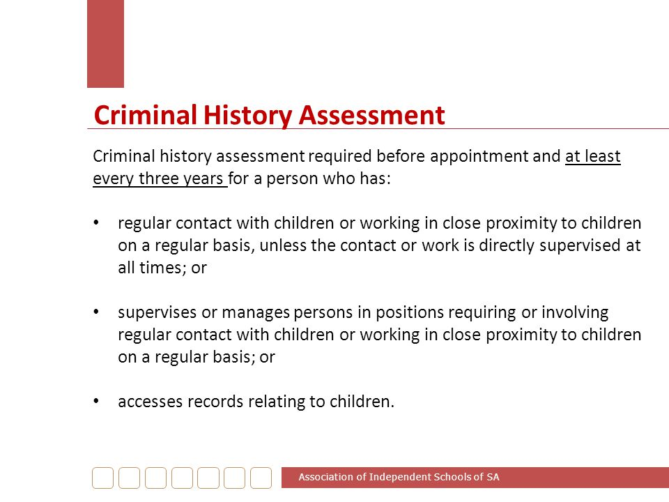 Criminal History Assessment