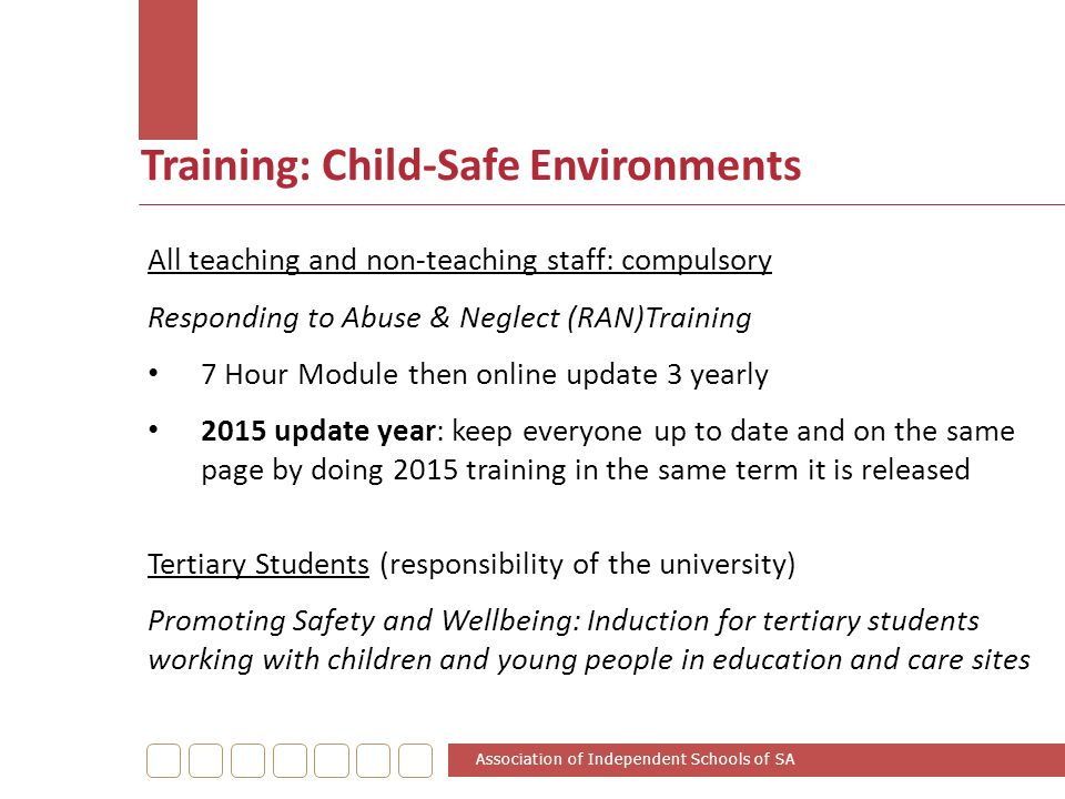 Training: Child-Safe Environments