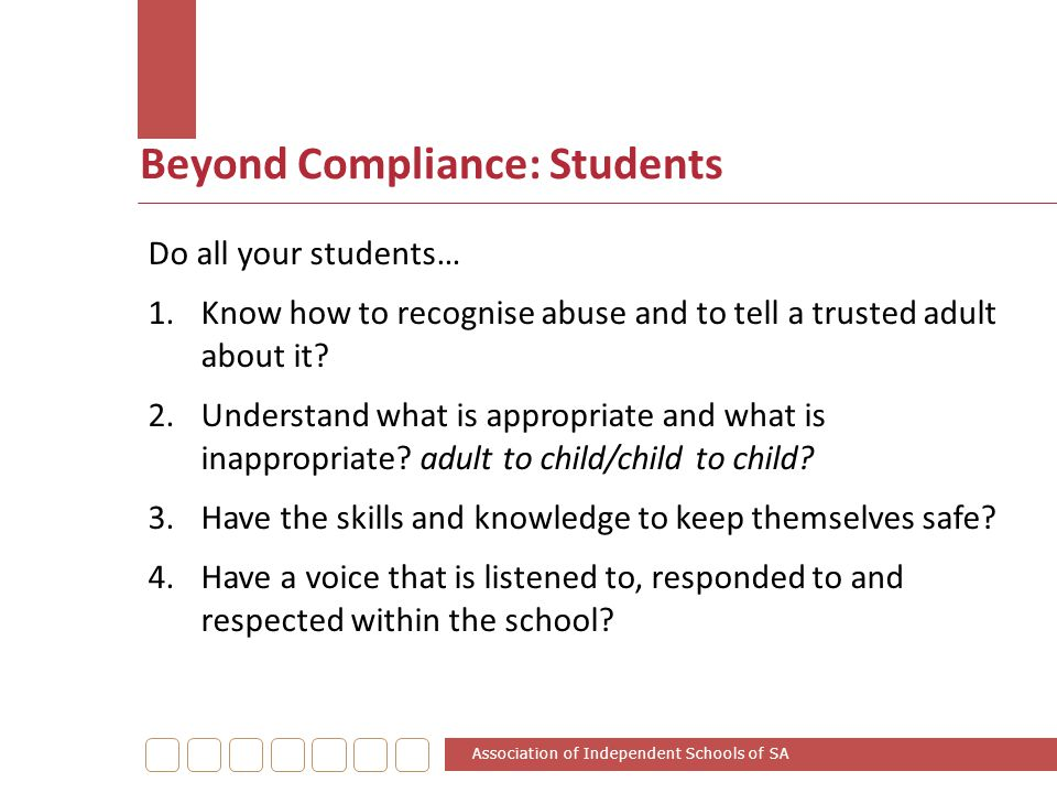 Beyond Compliance: Students