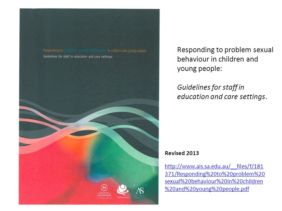 Responding to problem sexual behaviour in children and young people: