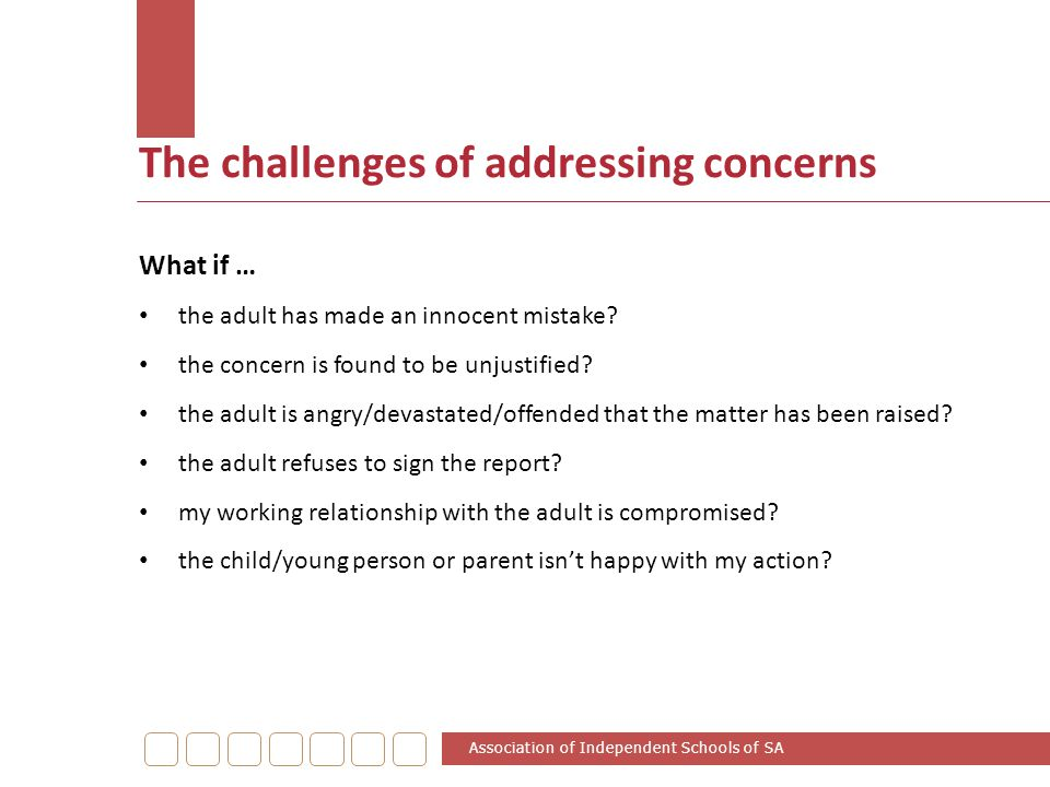 The challenges of addressing concerns