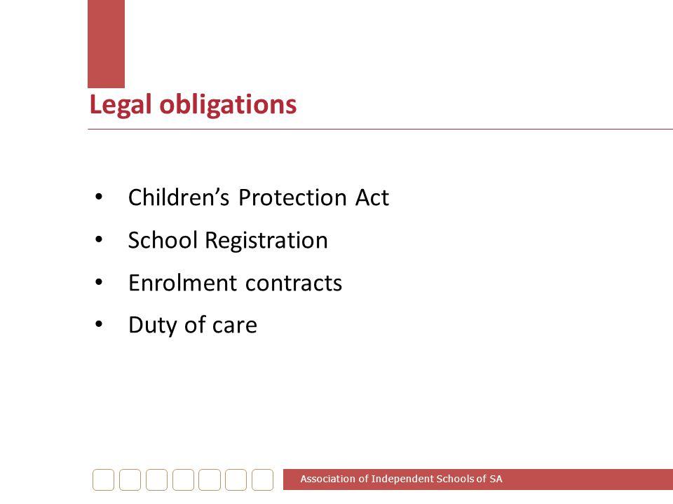 Legal obligations Children's Protection Act School Registration