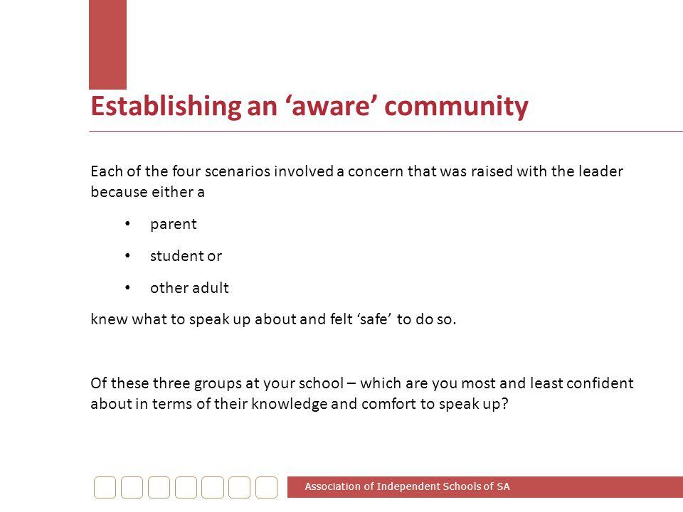 Establishing an 'aware' community
