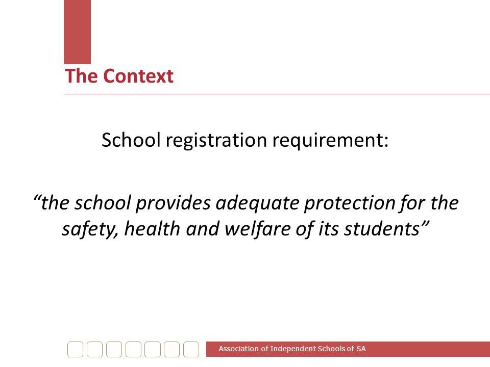 School registration requirement: