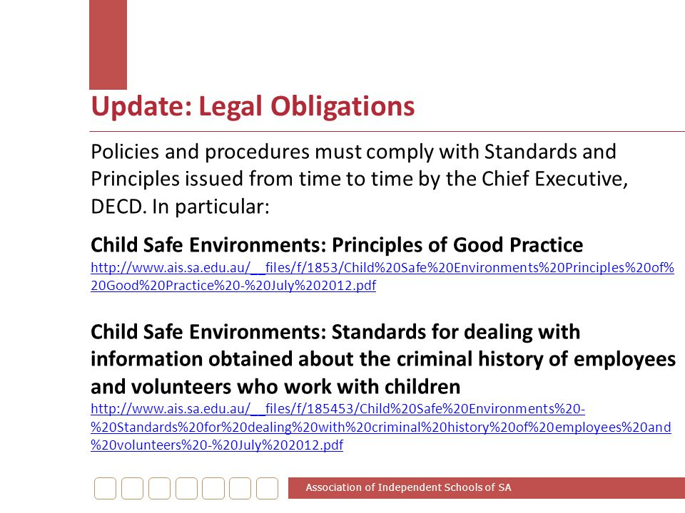 Update: Legal Obligations