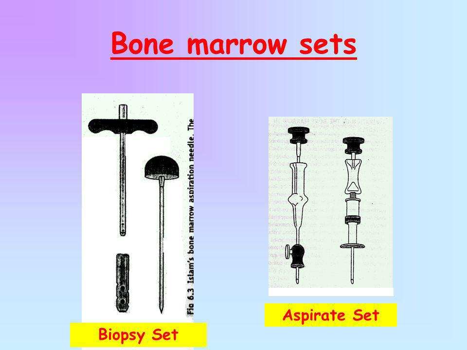 Bone marrow sets Aspirate Set Biopsy Set