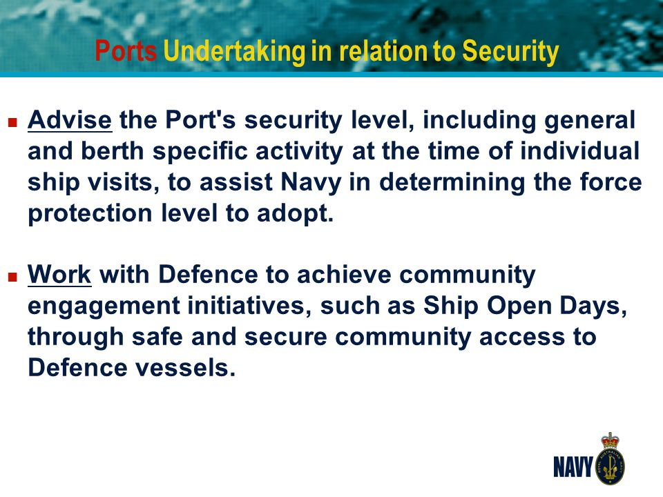 Ports Undertaking in relation to Security
