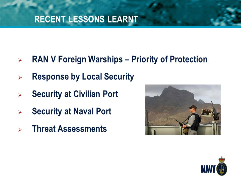 RAN V Foreign Warships – Priority of Protection