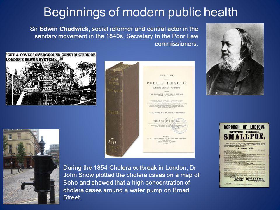 Beginnings of modern public health