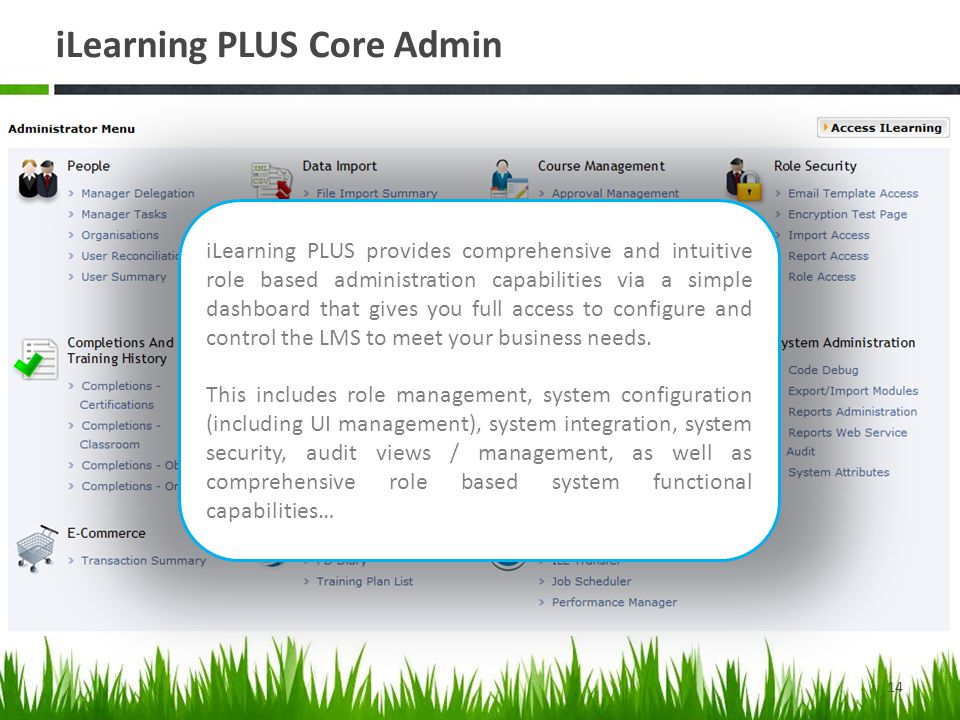 iLearning PLUS Core Admin