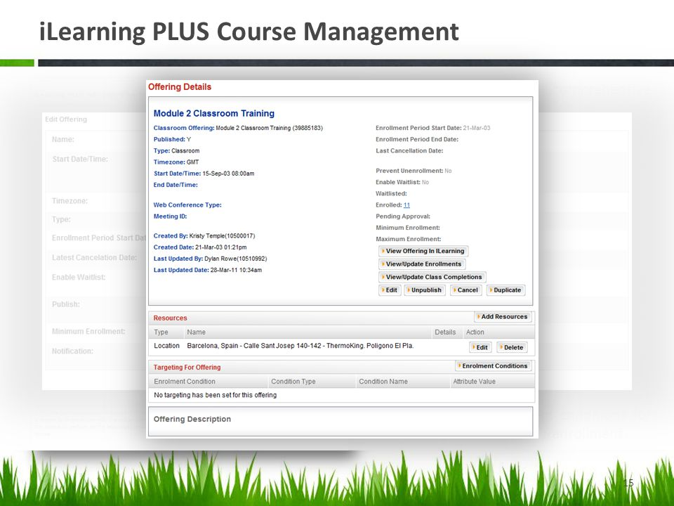 iLearning PLUS Course Management