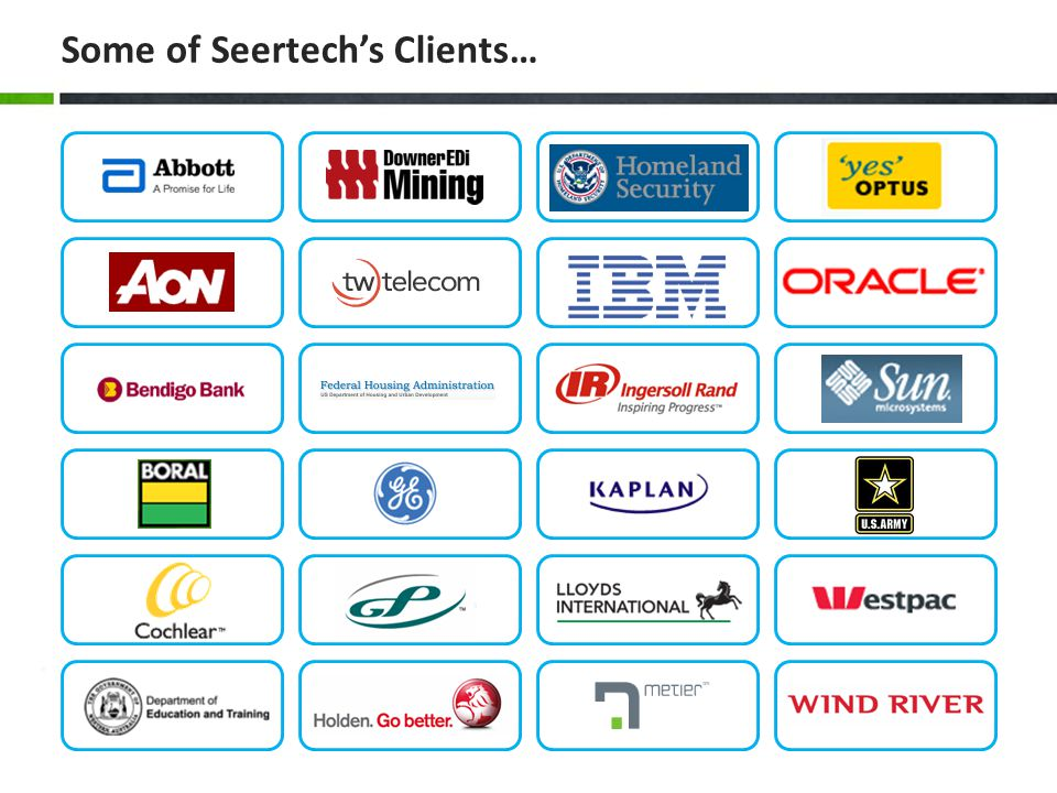 Some of Seertech's Clients…