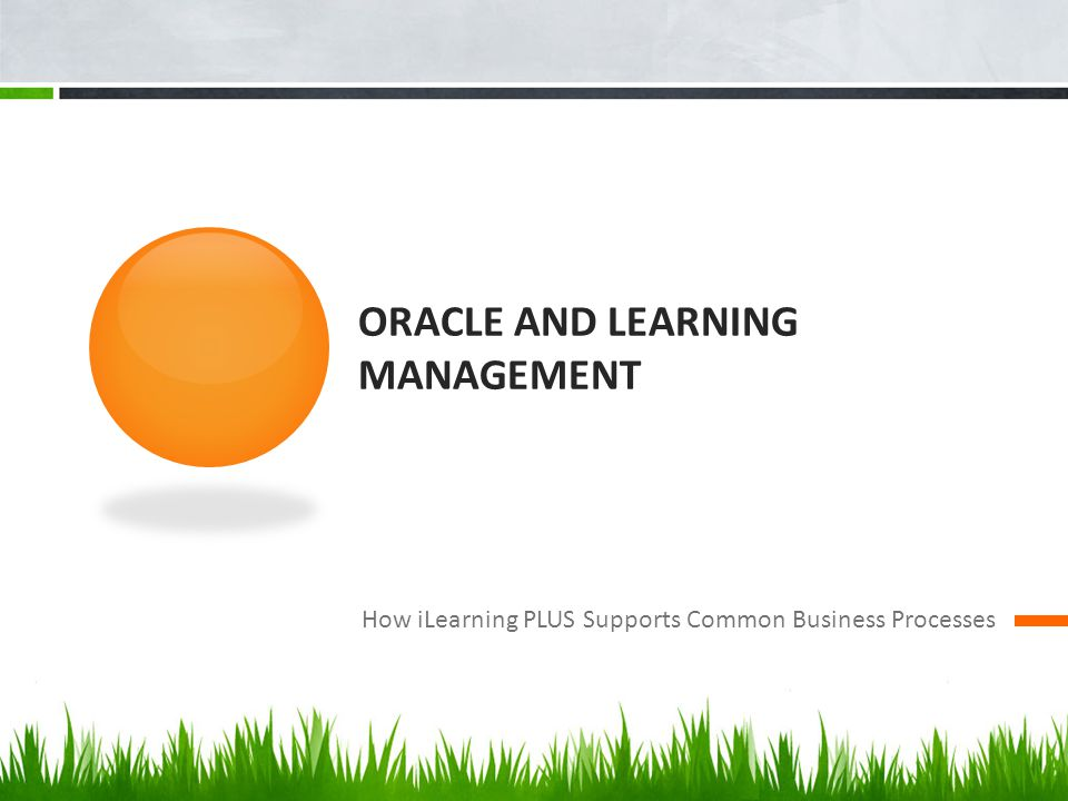 Oracle and learning management