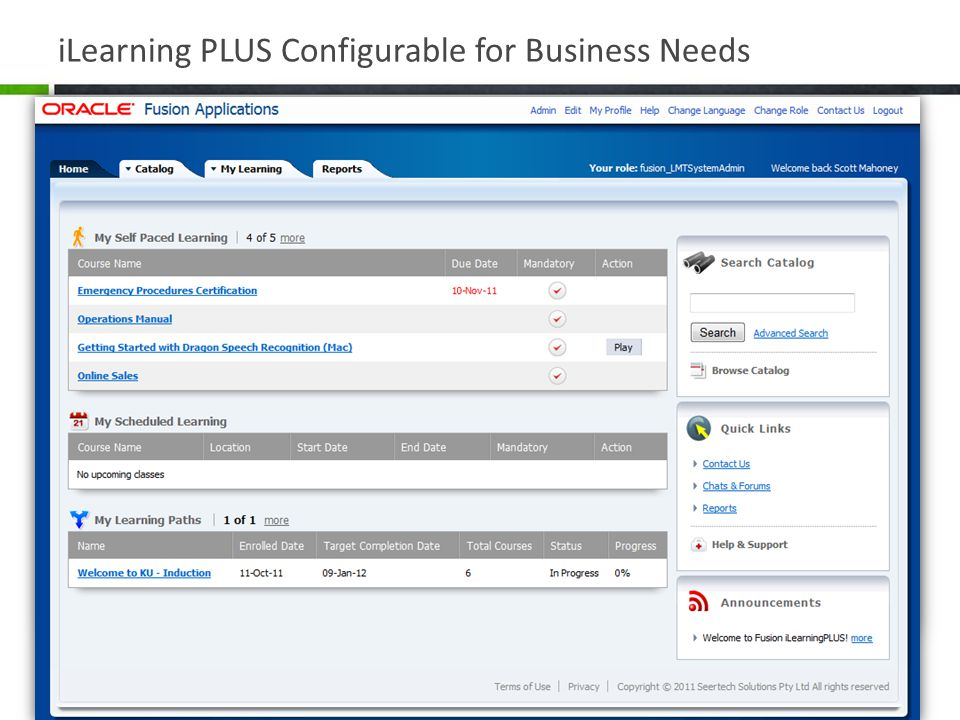 iLearning PLUS Configurable for Business Needs