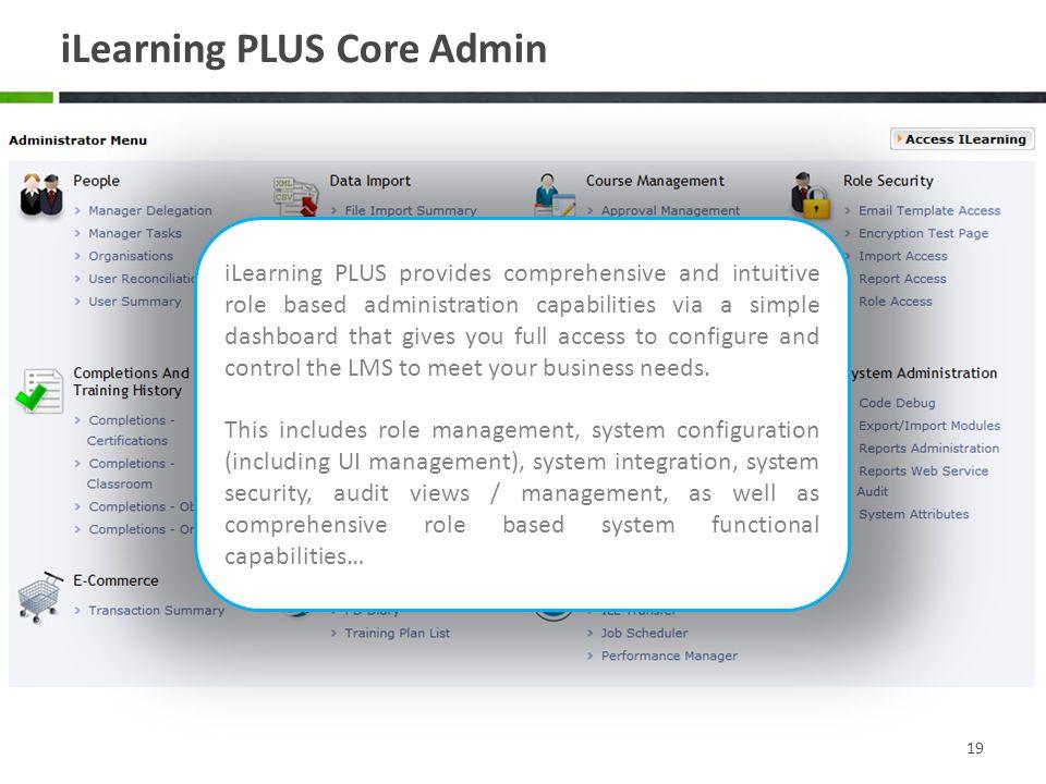 iLearning PLUS Core Admin