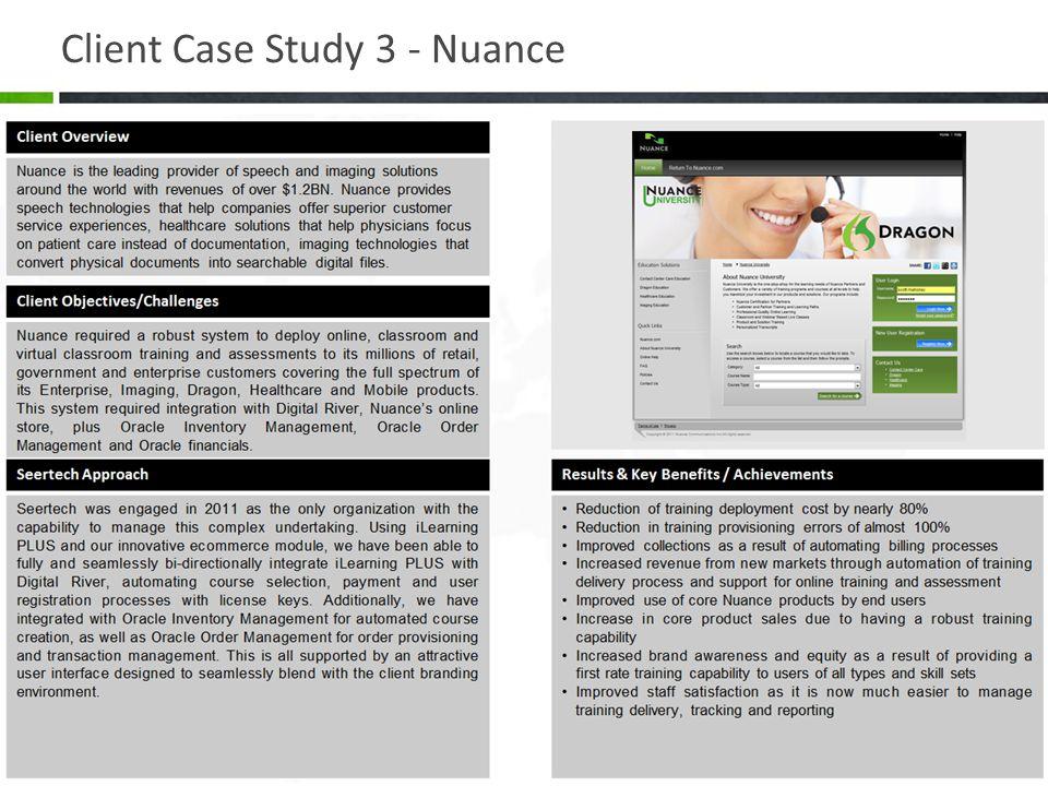 Client Case Study 3 - Nuance