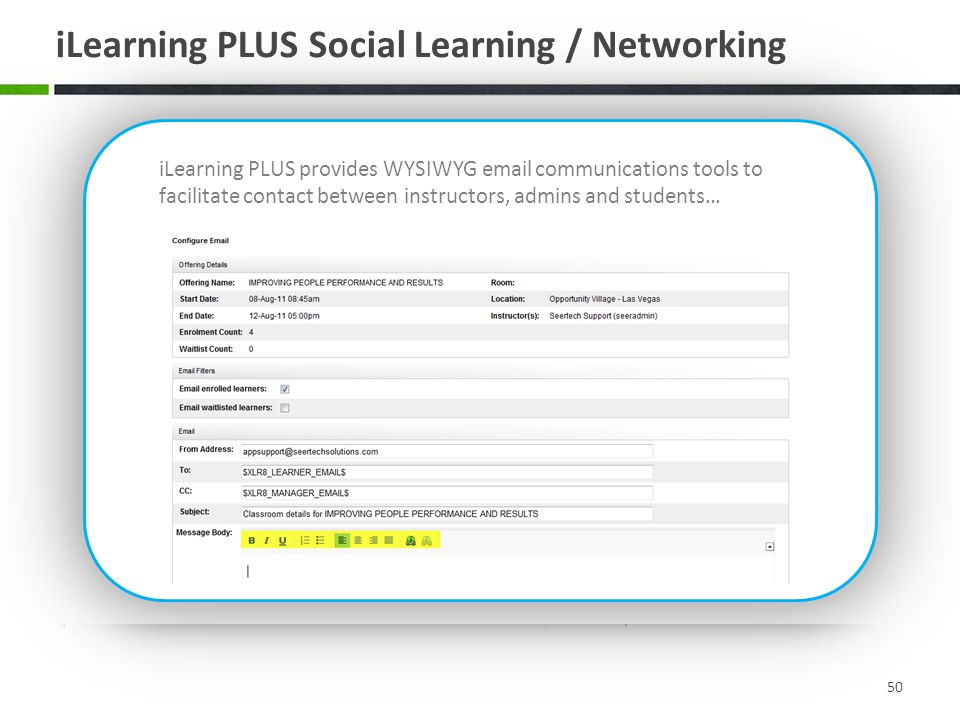 iLearning PLUS Social Learning / Networking