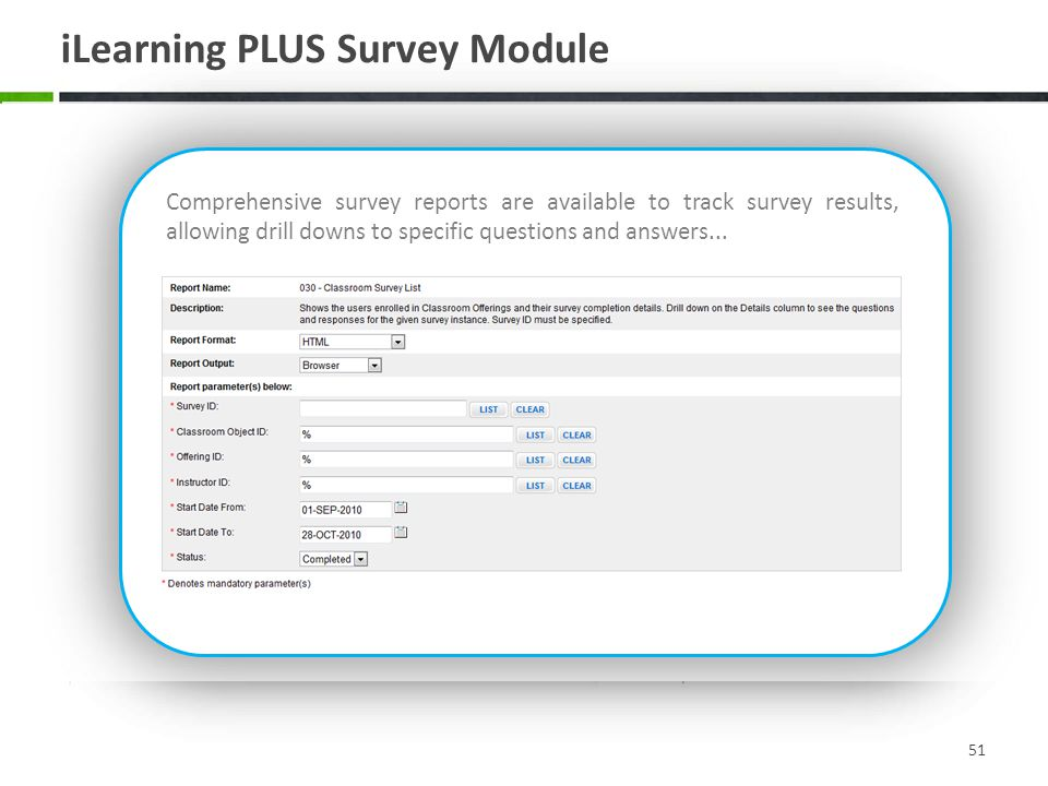 iLearning PLUS Survey Module
