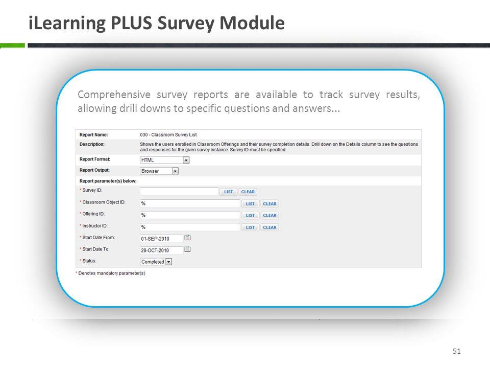 iLearning PLUS Survey Module