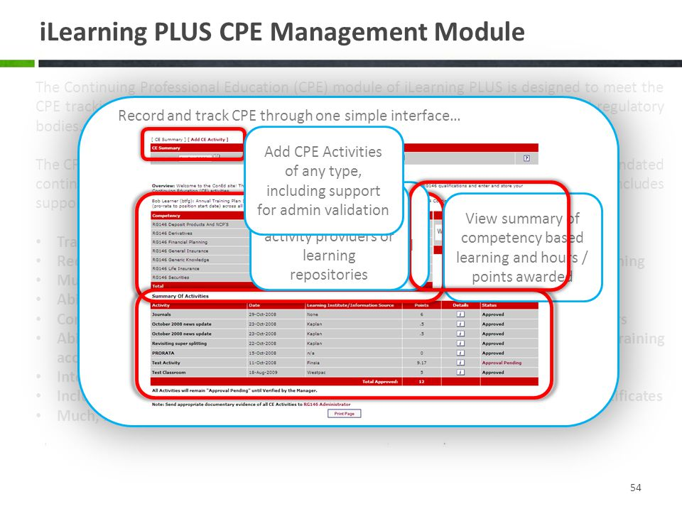 iLearning PLUS CPE Management Module